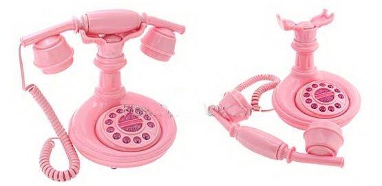 Telefone Rosa Modelo Antigo